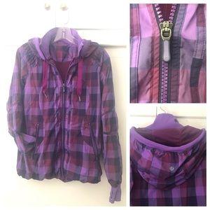 Lululemon Purple Plaid Lightweight Jacket